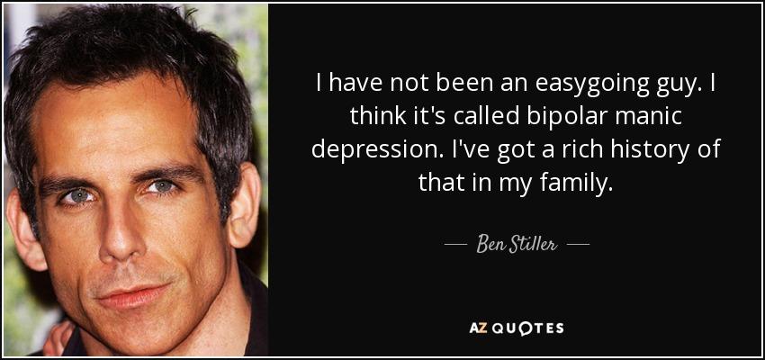 Transtorno bipolar de Ben Stiller